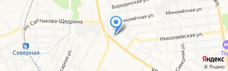 Магазин хозяйственных товаров на ул. Шелеста на карте Хабаровска