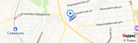 КБ Уссури на карте Хабаровска