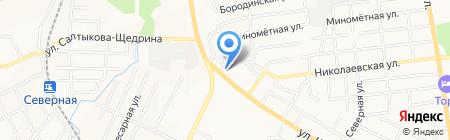 Магазин свежего мяса на карте Хабаровска