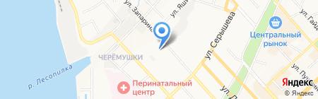Юмэ на карте Хабаровска