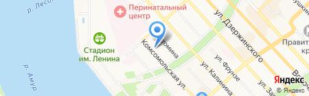 Детский сад №25 на карте Хабаровска