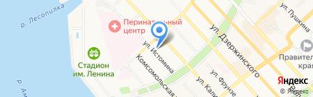 Аверс-1 на карте Хабаровска