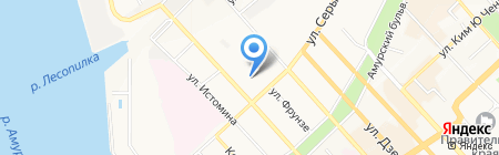 Тессути на карте Хабаровска