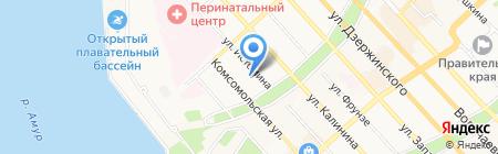 Математический лицей на карте Хабаровска
