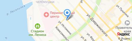 Магазин одежды и обуви на карте Хабаровска