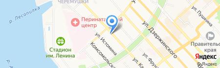 Русольдина на карте Хабаровска