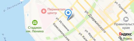 Дальмостострой на карте Хабаровска