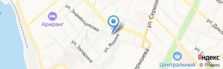 Оган на карте Хабаровска