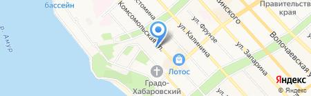 Банк Москвы на карте Хабаровска
