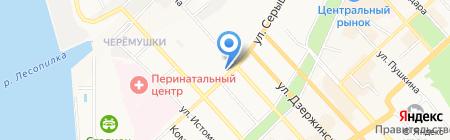 Сороконожка на карте Хабаровска