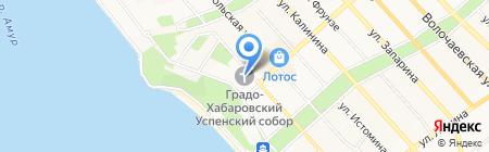 Градо-Хабаровский собор Успения Божьей Матери на карте Хабаровска