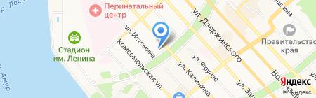 Продмаркет на карте Хабаровска