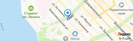 Капуцино на карте Хабаровска