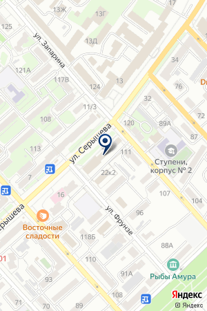 Сервис Перемещений на карте Хабаровска