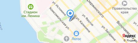 Ден-Тал-Из на карте Хабаровска