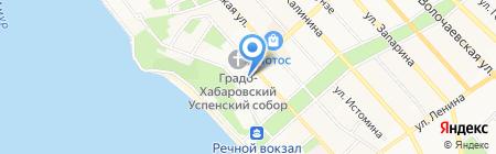 Сарез на карте Хабаровска