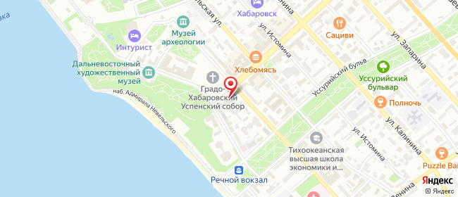 Карта расположения пункта доставки Хабаровск Муравьева-Амурского в городе Хабаровск