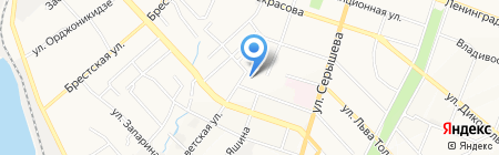 Аллегретто на карте Хабаровска