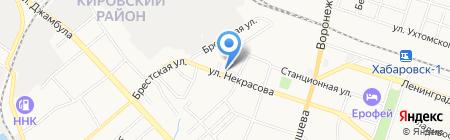 Тамга на карте Хабаровска