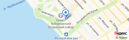 Тенториум на карте Хабаровска