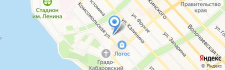 Flex на карте Хабаровска