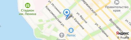ДВГНБ на карте Хабаровска