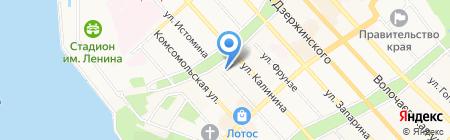 Хабаровск-Сити на карте Хабаровска