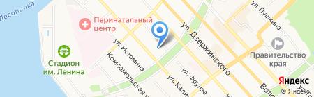 Туристическая фирма Радуга на карте Хабаровска