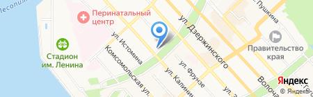 Артек на карте Хабаровска