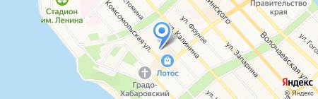 Эстетик Холл на карте Хабаровска