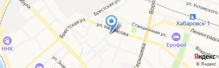 Ниса на карте Хабаровска