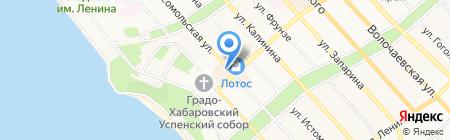 Янтарная комната на карте Хабаровска