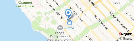 Автостоянка на ул. Муравьева-Амурского на карте Хабаровска