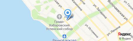 Time bar на карте Хабаровска
