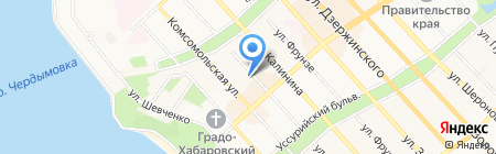 Велесстрой на карте Хабаровска