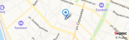 Икс-Принт на карте Хабаровска