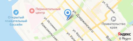 ТИНРО-центр на карте Хабаровска
