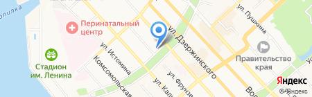 Палитра на карте Хабаровска