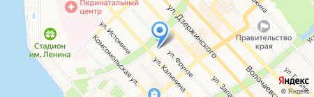 Миури на карте Хабаровска