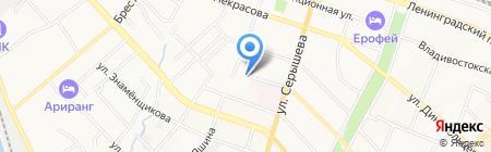 Эврика на карте Хабаровска