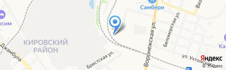ЖелДорЭкспедиция на карте Хабаровска