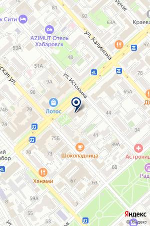 ТФ ВОЛЬВО-ВОСТОК на карте Хабаровска