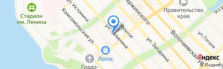 Дальневосточные каникулы на карте Хабаровска