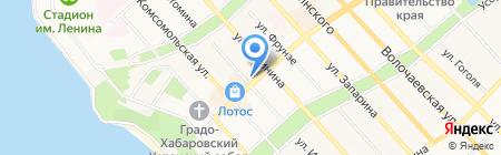 Золото на карте Хабаровска