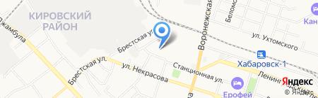 Комитет по труду и занятости населения на карте Хабаровска