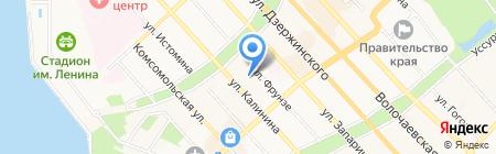 Хабаровский краевой фонд обязательного медицинского страхования на карте Хабаровска