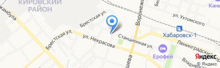ДВГУПС на карте Хабаровска