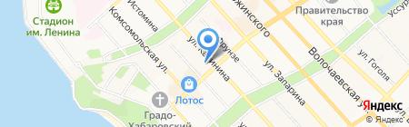 Комитет Правительства края по обеспечению деятельности мировых судей на карте Хабаровска