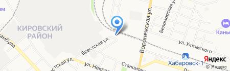 Путевые машины на карте Хабаровска