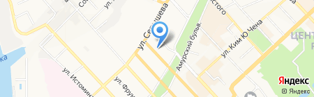 Юккамед на карте Хабаровска